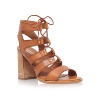 Carvela Kandice High Heel Lace Up Sandals Tan