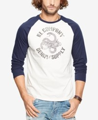 Denim And Supply Ralph Lauren Men's Jersey Graphic Baseball Shirt White