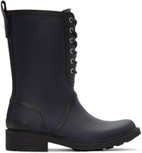 Rag And Bone Navy Ansel Rain Boots