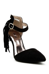 Qupid Mixi Fringe High Heel Pump Black
