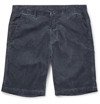 Massimo Alba Vela Cotton Corduroy Shorts Blue