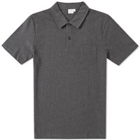 Sunspel Riviera Polo Grey