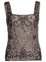 Gina Bacconi Bead And Sequin Cami Pewter