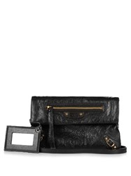 Balenciaga Classic Mini Envelope Leather Clutch Black