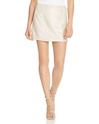 Rebecca Minkoff Penny Sequin Skirt Silver