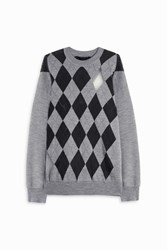 Alexander Wang Crew Neck Argyle Sweater Multi