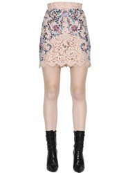 Zuhair Murad Crystals And Lace Mini Skirt