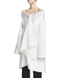 The Row Tere Off The Shoulder Ruffle Front Jacket White Women's