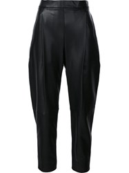 Vince Cropped Tapered Trousers Black