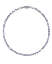 Macy's Tanzanite Collar Necklace In Sterling Silver 20 Ct. T.W.