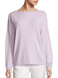 Lafayette 148 New York Cashmere V Back Sweater Iced Viole