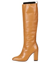 Leather High Leg Boots By Unique Camel