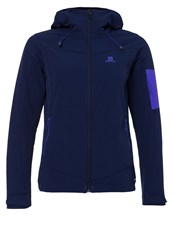 Salomon Ranger Soft Shell Jacket Wisteria Navy Dark Blue