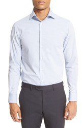 Men's Armani Collezioni Trim Fit Microstripe Dress Shirt
