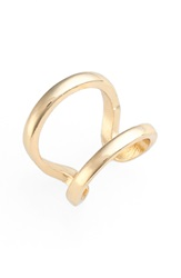 'Double Up' Midi Ring Yellow Gold