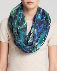 Rose And Rose Jeweled Ikat Scarf Green Blue
