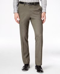 Kenneth Cole Reaction Men's Slim Fit Stretch Dress Pants Medium Brown