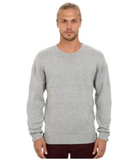 Publish Neil 6 Gauge Knitted Crew Neck Sweater Grey Men's Sweater Gray