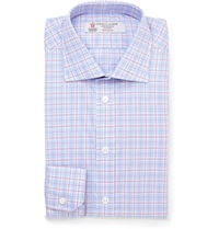 Turnbull And Asser Slim Fit Check Cotton Shirt Blue