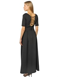 Cc By Camilla Cappelli Lace Up Light Neoprene Dress