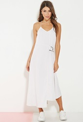 Forever 21 Minty Meets Munt Utility Maxi Dress White Black
