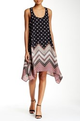 Trixxi Printed Handkerchief Hem Dress Multi