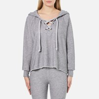 Wildfox Couture Women's Hutton Hooded Sweatshirt Heather Burnout Grey