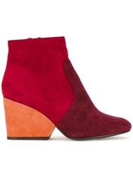 Robert Clergerie 'Toots' Boots Red