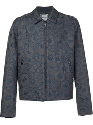 Wooyoungmi Embroidered Zipped Jacket Grey