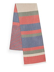 Hickey Freeman Striped Scarf Red
