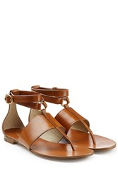 Michael Kors Collection Leather Sandals Brown