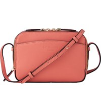 Lk Bennett Mariel Saffiano Leather Cross Body Bag Pin Coral