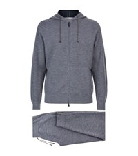 Brioni Cashmere Blend Hooded Tracksuit Male Light Grey