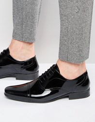 Red Tape Oxford Shoes In Patent Leather Black