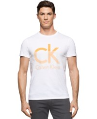 Calvin Klein Big And Tall Ck Graphic Print Logo T Shirt White