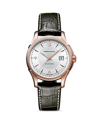 Hamilton Jazzmaster Viewmatic Automatic Watch 40Mm Pink White Brown
