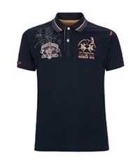 La Martina Pony Sketch Polo Shirt Navy