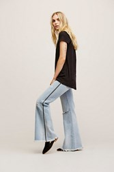 One By One Teaspoon Womens Florence Low Rise Flares