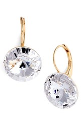 Women's L. Erickson 'Celeste' Round Crystal Drop Earrings Crystal Gold