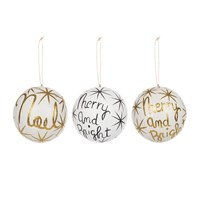 Cody Foster And Co Winter Wishes Christmas Tree Decoration Set Of 3
