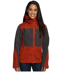 Fjall Raven Keb Jacket Autumn Leaf Women's Coat Orange