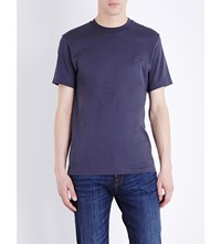 Paul Smith Ps By Embossed Logo Cotton Jersey T Shirt Elephant
