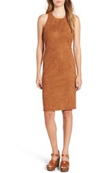 June And Hudson Women's Faux Suede Midi Dress