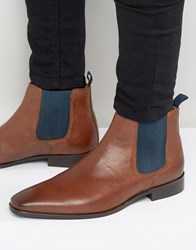 Kg By Kurt Geiger Baxter Leather Chelsea Boots Tan