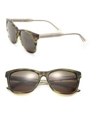 Bottega Veneta 55Mm Squared Rectangle Acetate Sunglasses Brown