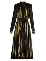 Dodo Bar Or Alanis Point Collar Long Sleeved Dress Black Gold