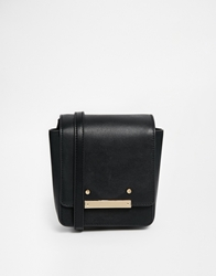 Asos Metal Detail Cross Body Bag Black