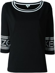 Kenzo Scoop Neck T Shirt Black