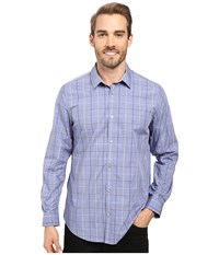 Calvin Klein Long Sleeve Infinite Cool Large Window Plaid Shirt Sweet Lavender Men's Long Sleeve Button Up Purple