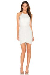 Bobi Black Mixed Chiffon Lace Bodycon Dress White